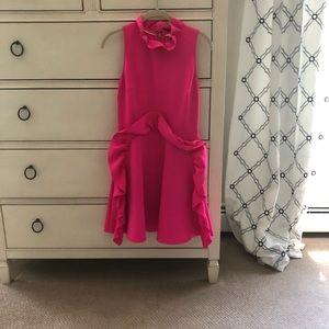 Ted Baker hot pink ruffle dress size.